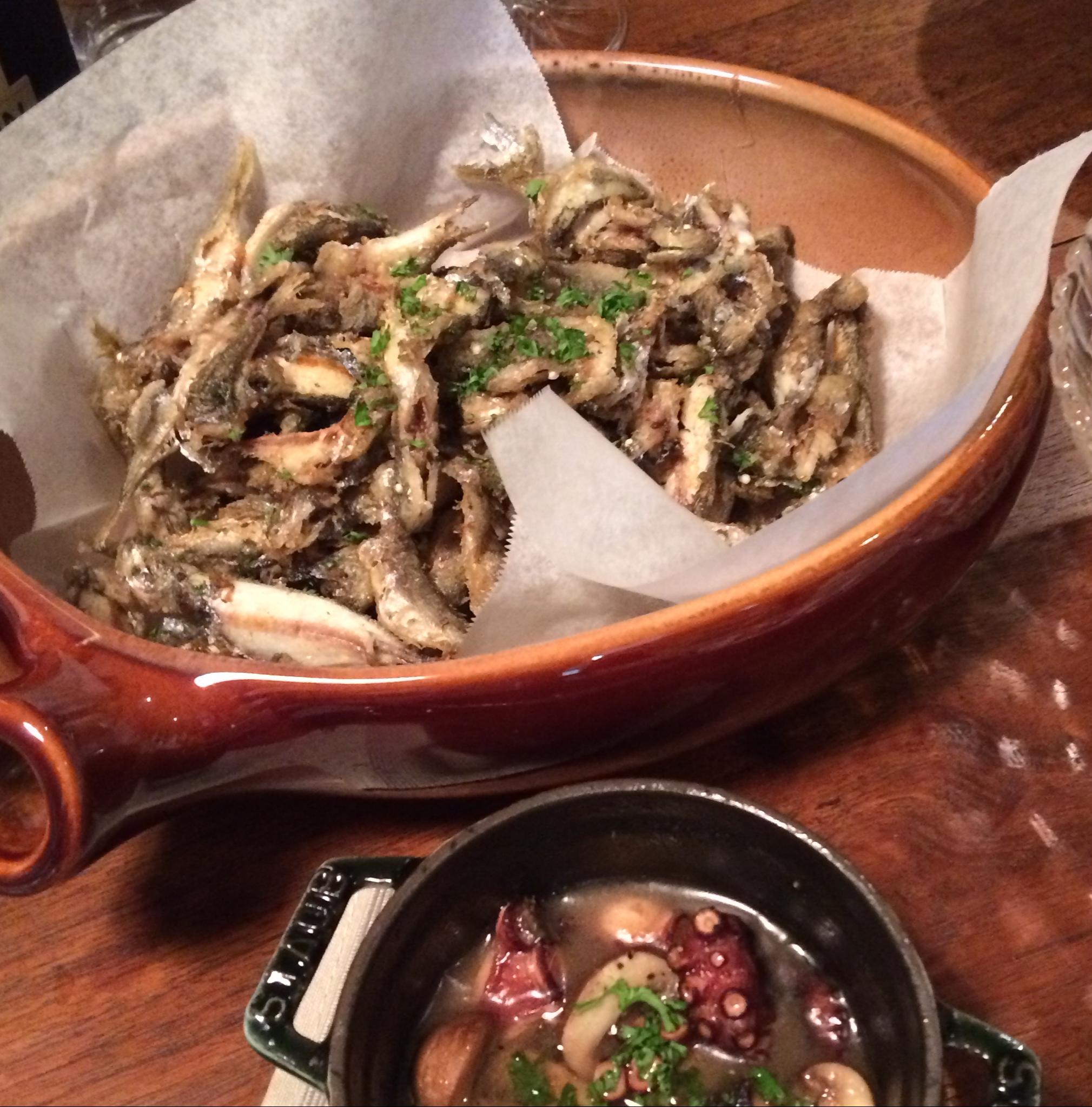 鯛のアクアパッツア,蛸とマッシュルームのアヒージョ